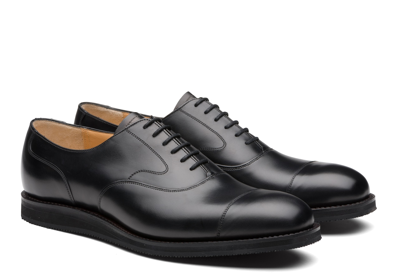 Lancaster we Church's Derby en Cuir de Veau Noir