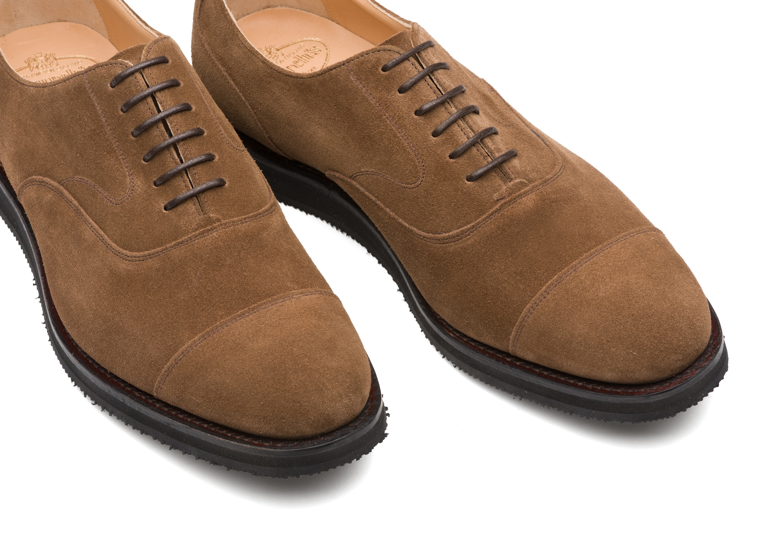 Lancaster we Church's Suede Oxford Brown
