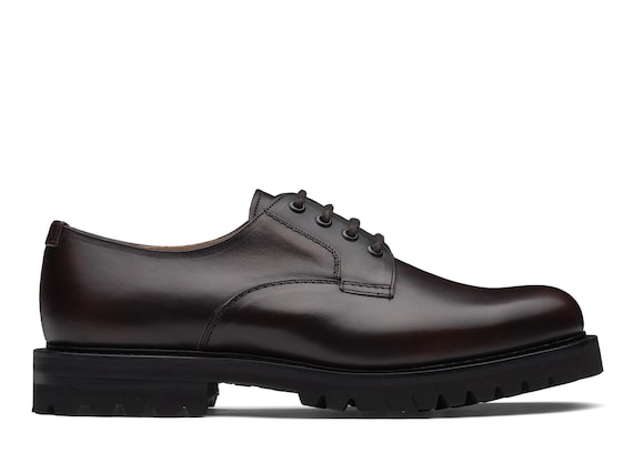Church's  Burnished Calf Leather Lace-Up Derby Burnt