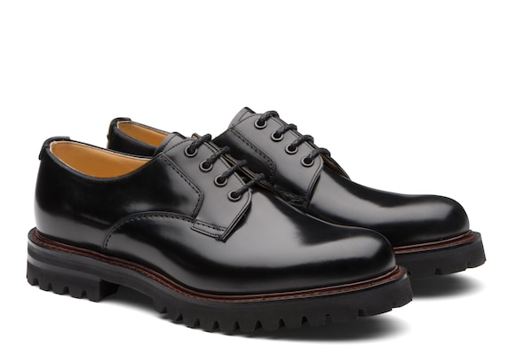 Church's Chester 2 Derby in pelle di vitello spazzolato Nero