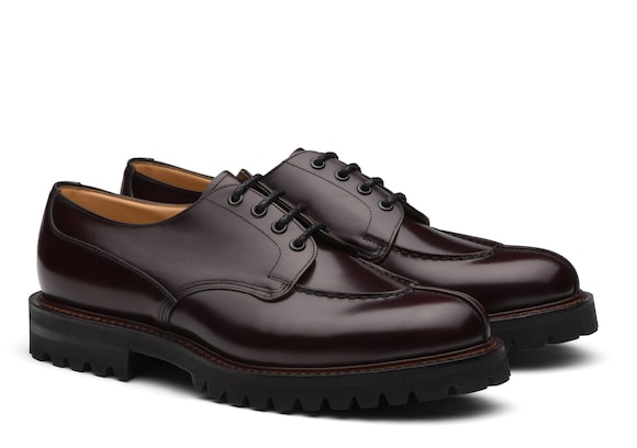 Church's Edgerton Derby in Pelle di Vitello Spazzolato Burgundy