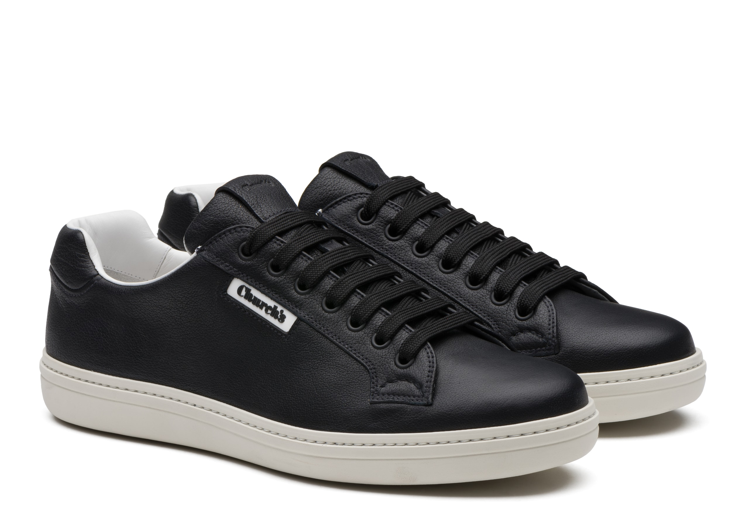 Mirfield 2 Church's Buffalo Leather Classic Sneaker Black