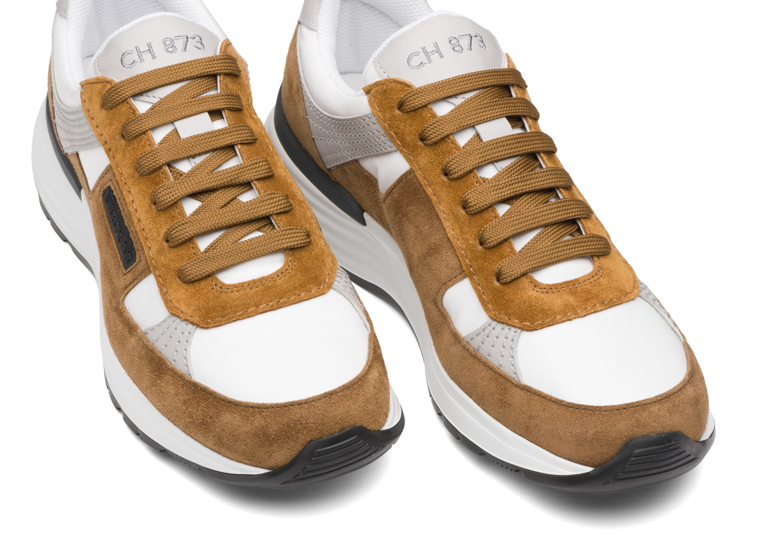 Ch873 Church's Suede and Gabardine Retro Sneaker Brown