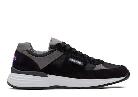 Church's  Suede Tech Retro Sneaker Black
