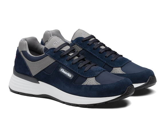 Church's  Suede Tech Retro Sneaker Blue