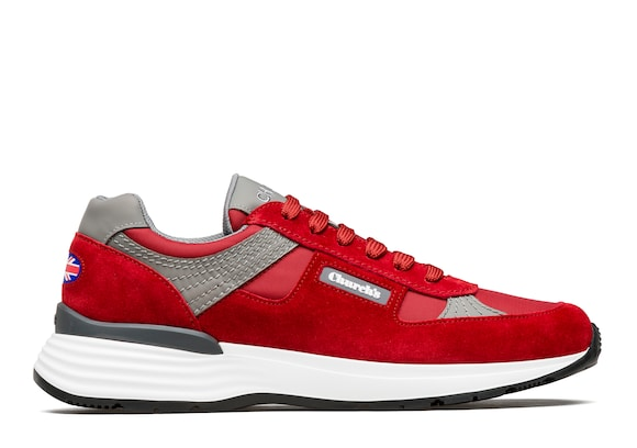 Church's  Suede Tech Retro Sneaker Scarlet
