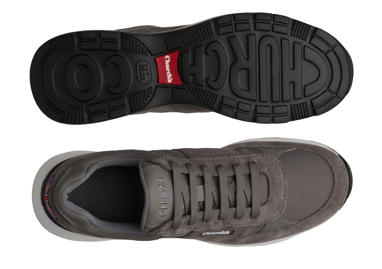 Ch873 Church's Suede Tech Retro Sneaker Grey