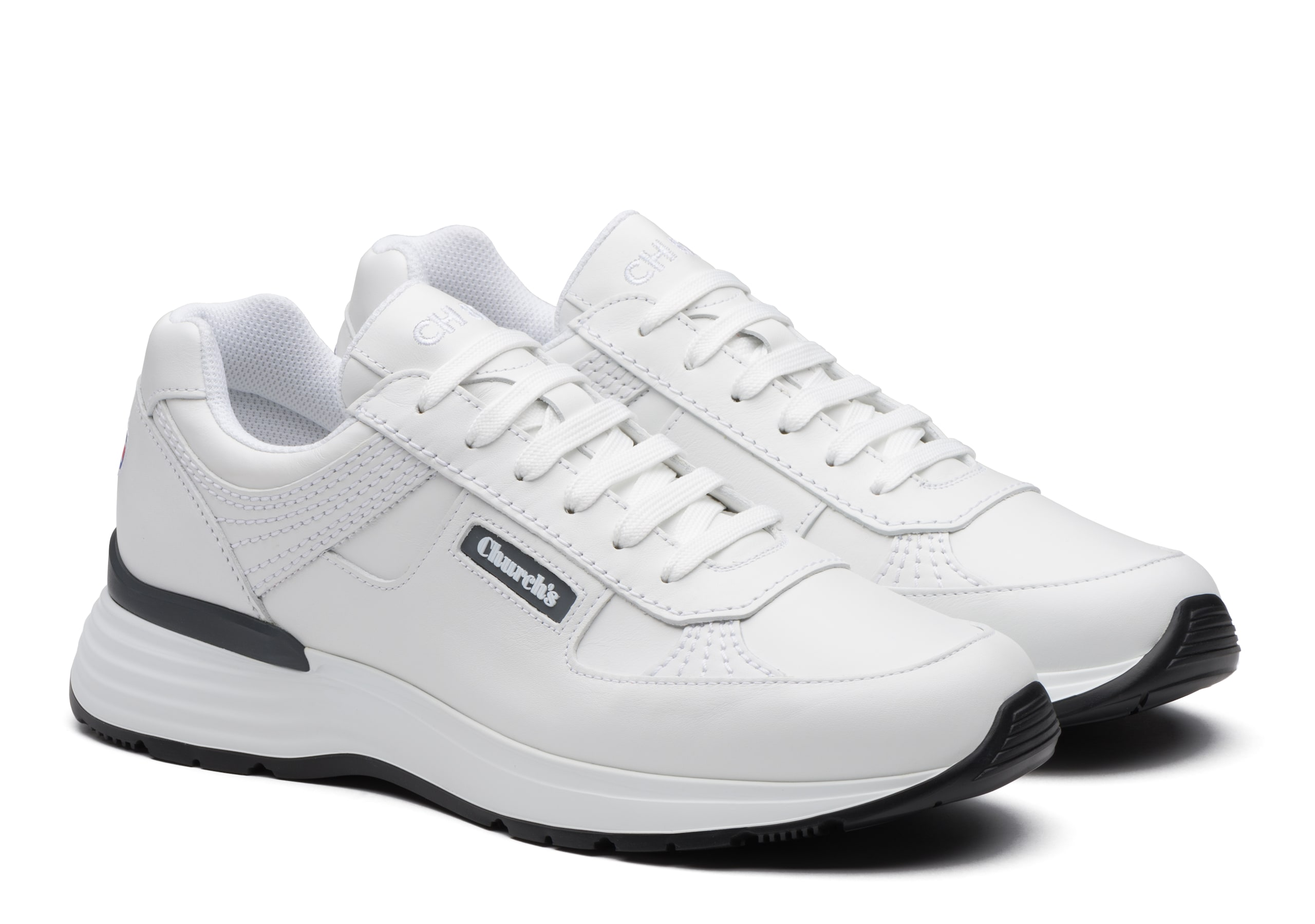 Ch873 Church's Plume Calf Leather Retro Sneaker White