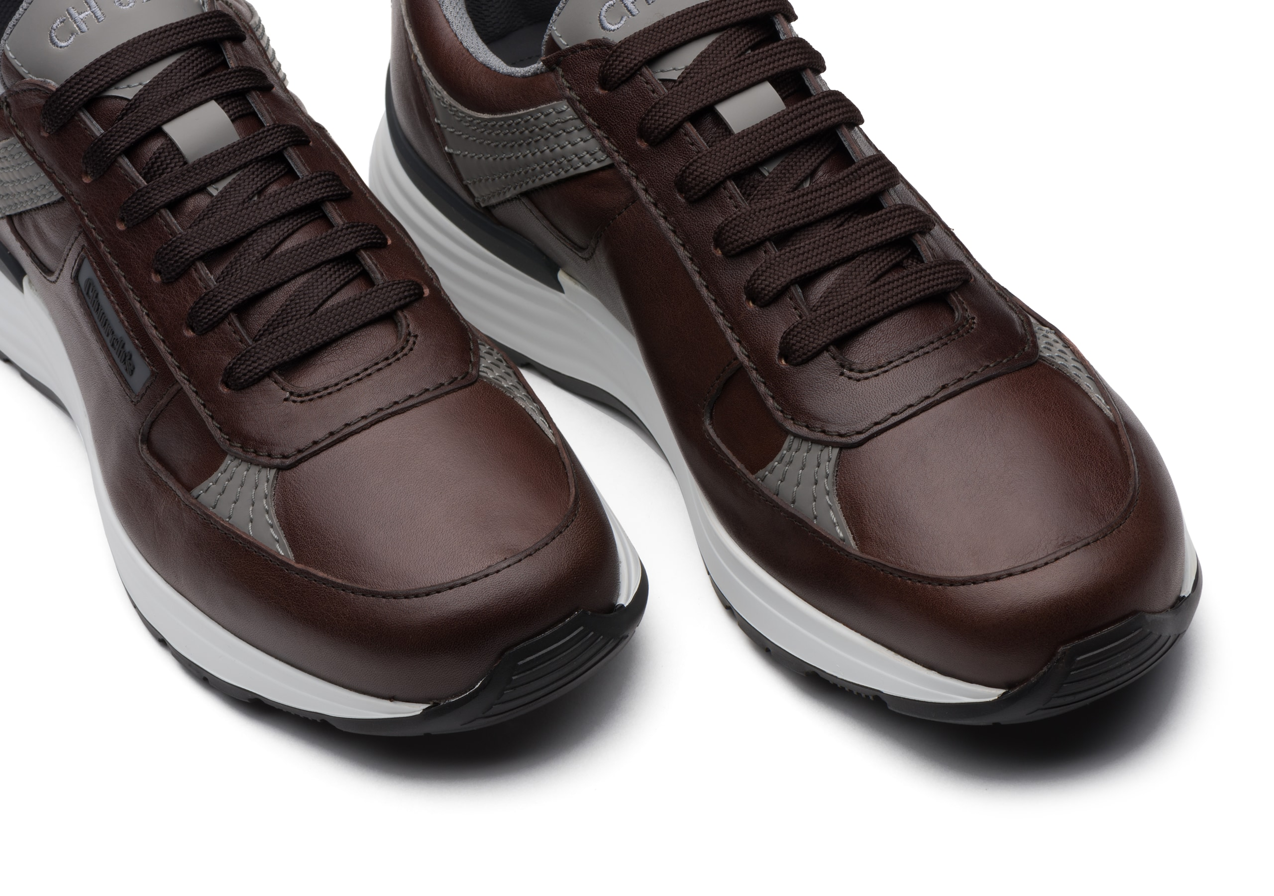 Ch873 Church's Vintage Calf Leather Retro Sneaker Brown