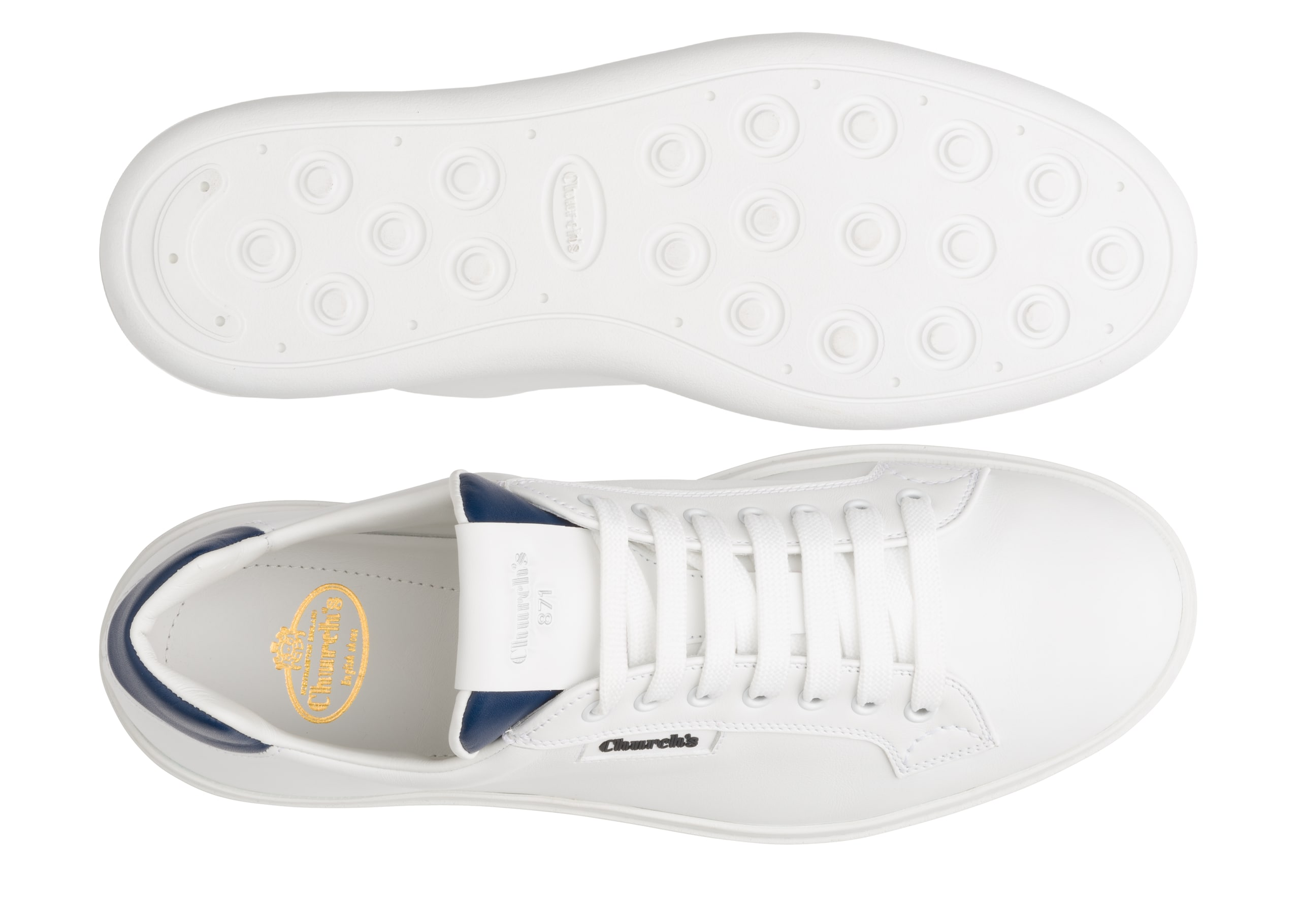 Ch871 Church's Sneaker classica in pelle di vitello plume Bianco