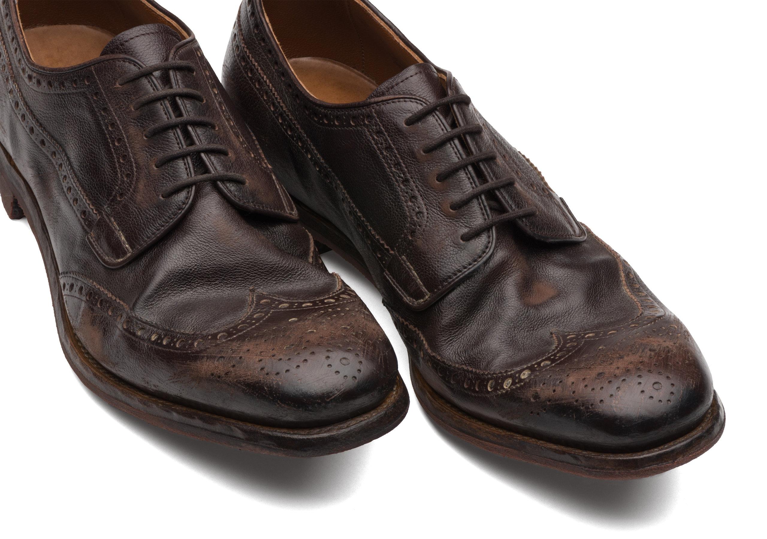 Grafton 1930 Church's Derby Brogue in Vitello Glacé Marrone
