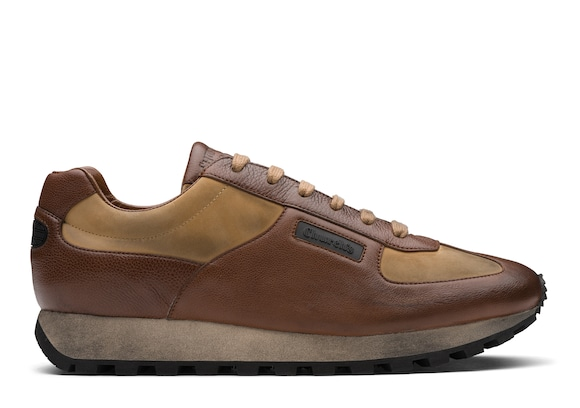 Church's  Glacè Calf and Nabuk Vintage Sneaker Walnut/sand