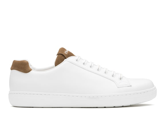 Church's Boland plus 2 Calf leather and Suede Classic Sneaker White/sigar