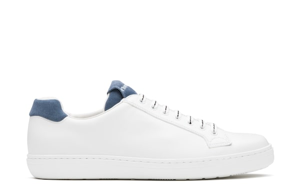 Church's true Calf and Leather Suede Classic Sneaker White/sky blue