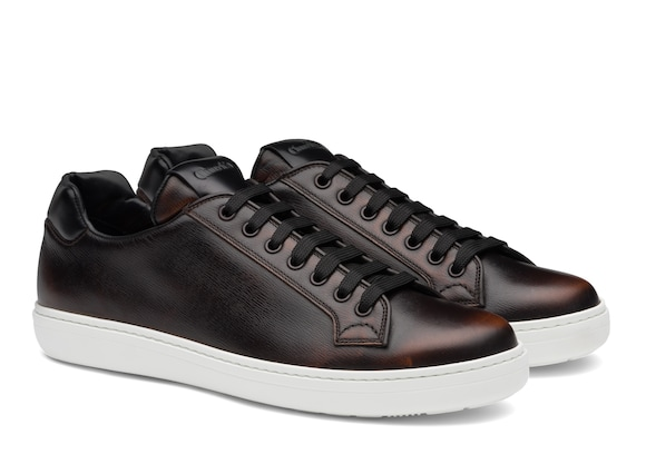 Church's Boland plus Antic Calf Leather Classic Sneaker Brandy