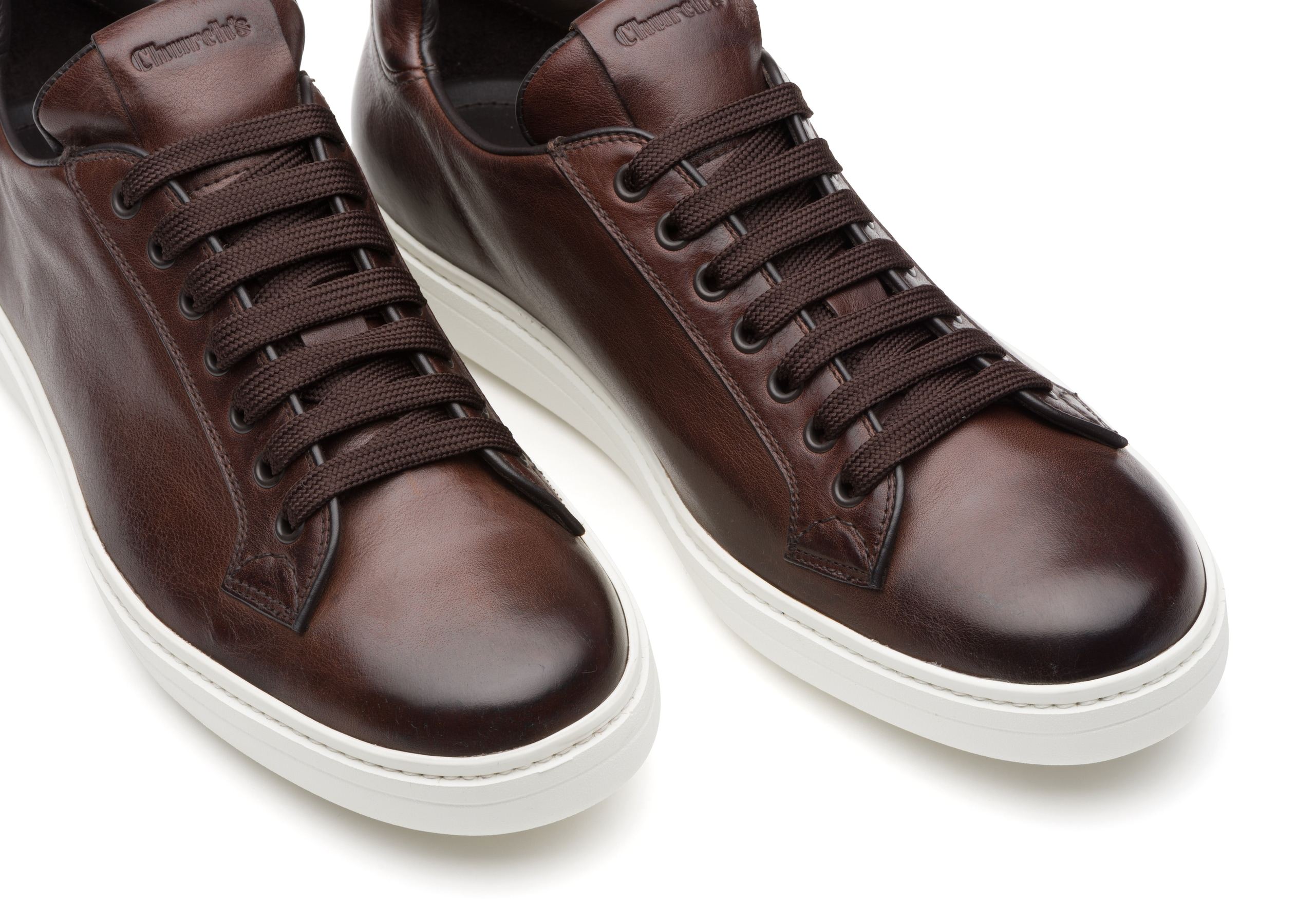 Boland plus Church's Vintage Calf Leather Classic Sneaker Brown
