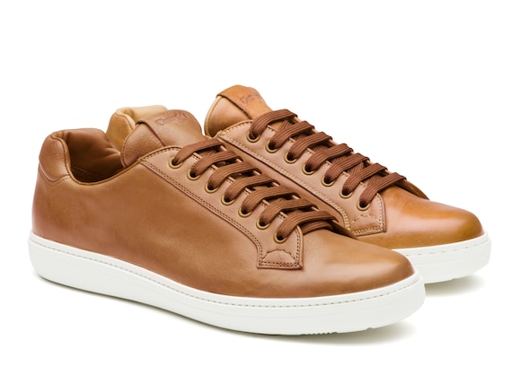 Church's Boland plus 2 Vintage Calf Leather Classic Sneaker Natural