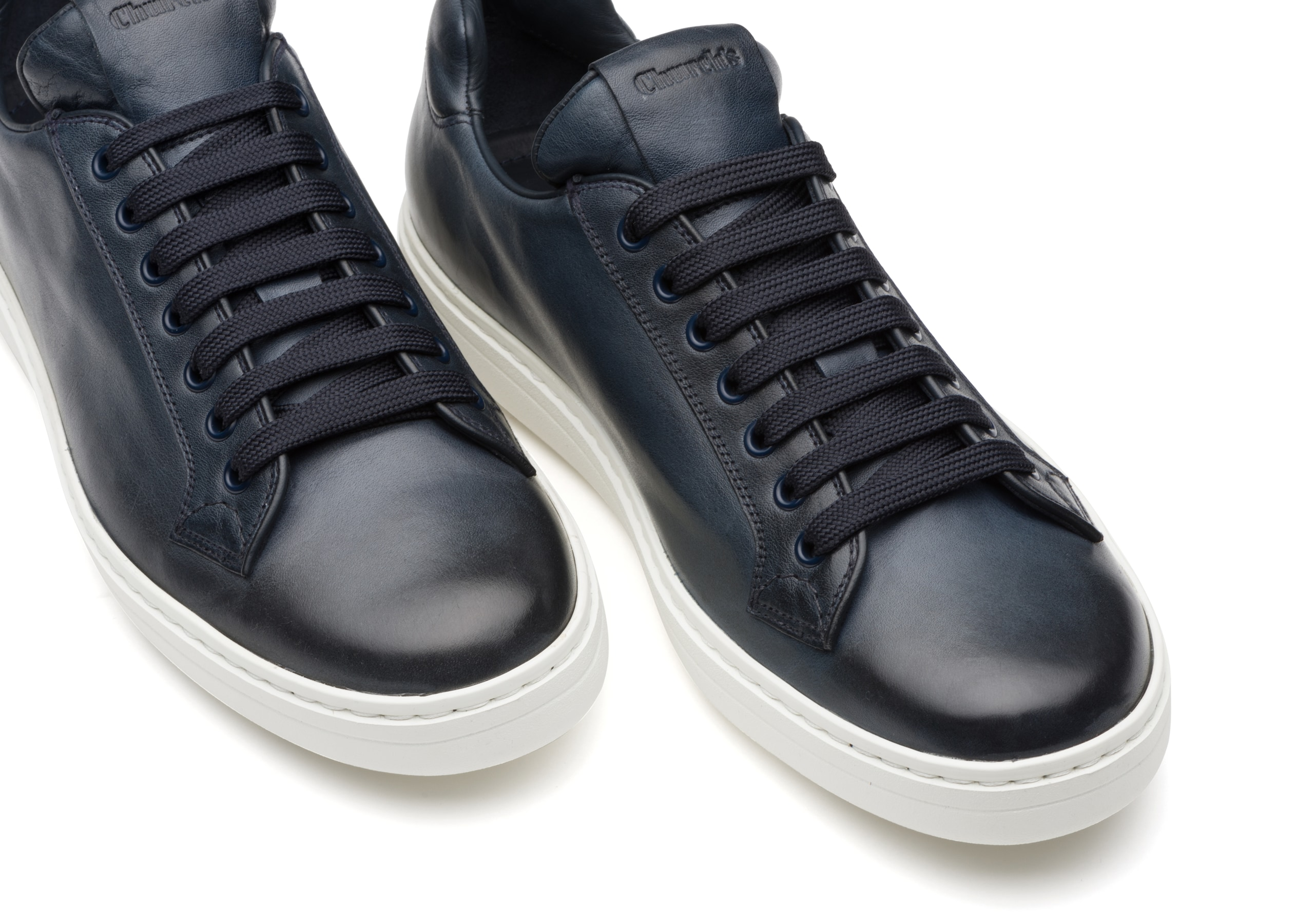 Boland plus Church's Vintage Calf Leather Classic Sneaker Blue