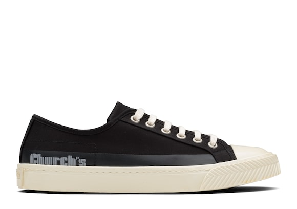 Church's  Sneaker stringata in gabardine Nero