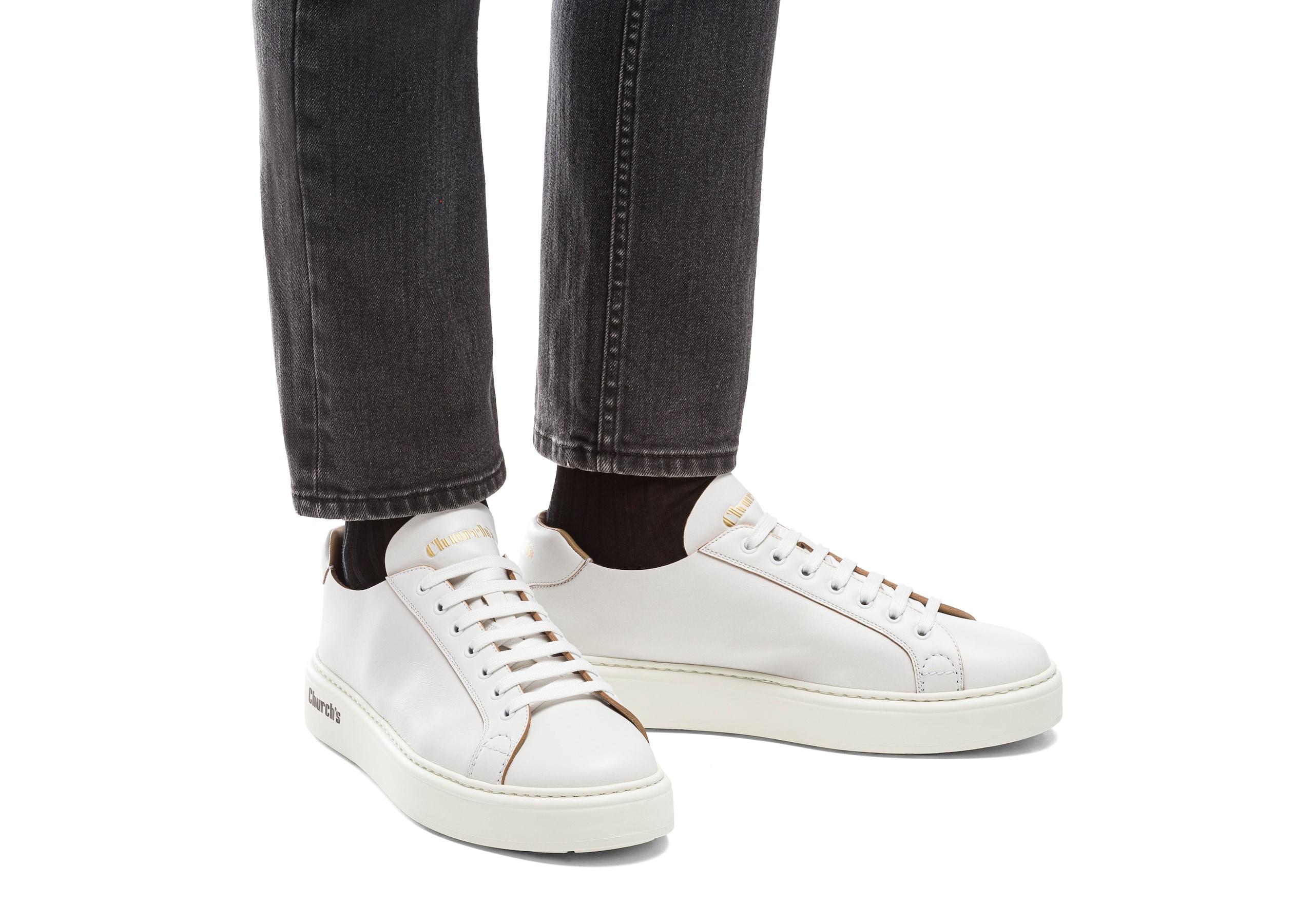 Mach 1 Church's Monteria Calf Classic Sneaker White