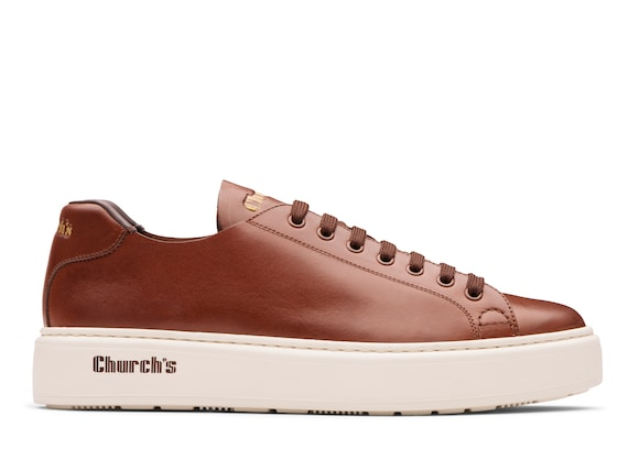 Church's  Sneaker Classica in Pelle di Vitello Monteria Noce