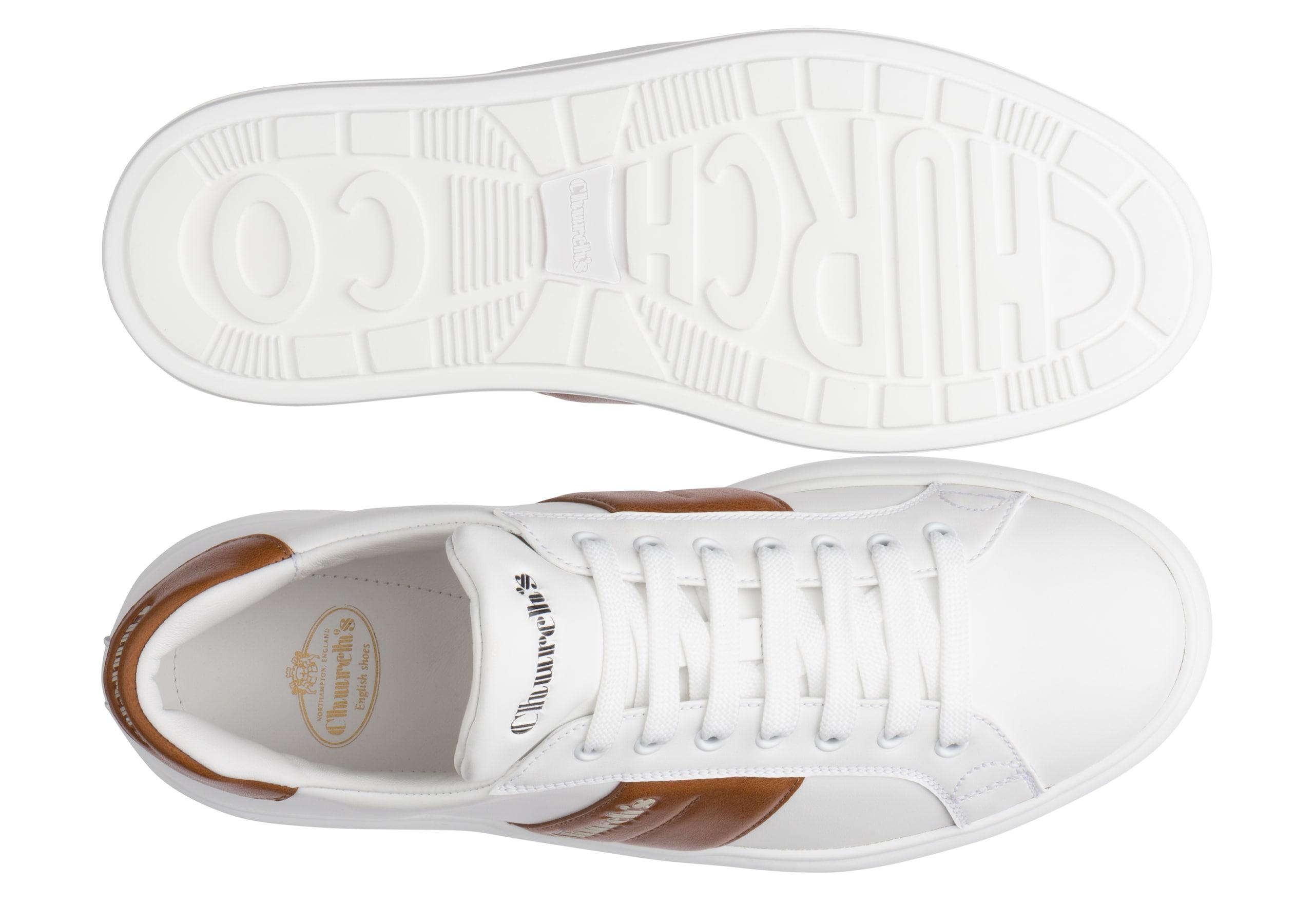 Mach 3 Church's Calf Leather Classic Sneaker White