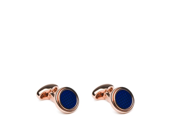 Church's Step round cufflink Step Cufflinks Round Blue