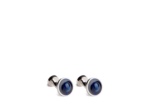 Church's Floating stone cufflink Ovale Cymophane et Plaqué Rhodium