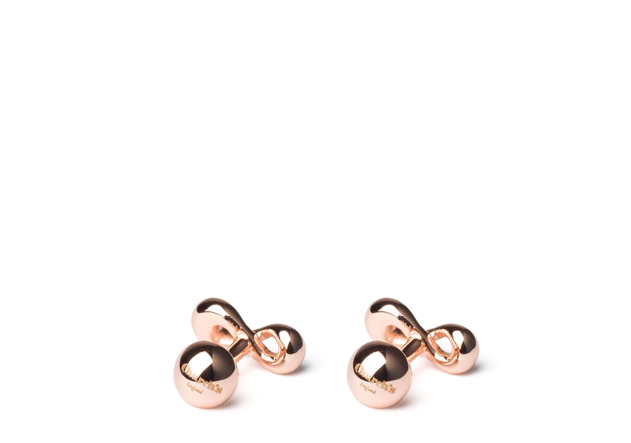 Infinity cufflink Church's Rose Gold Plated Infinity Knot Gold/silver