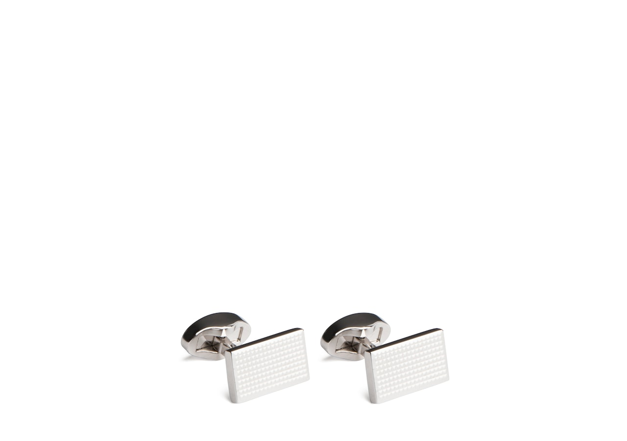 Gatsby cufflink Church's Rhodium Plated Textured Gold/silver