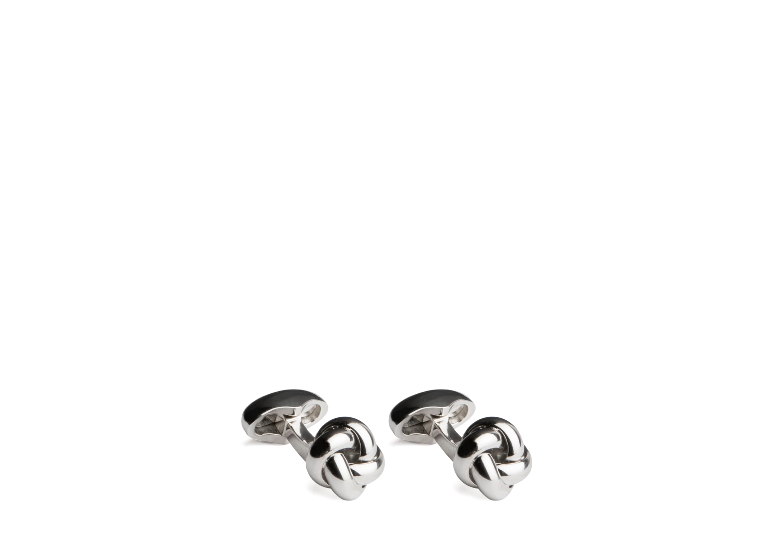 Knotted cufflink Church's Rhodium Plated Knot Gold/silver