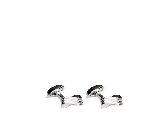 Church's Wave cufflink Rhodium Plated Wave