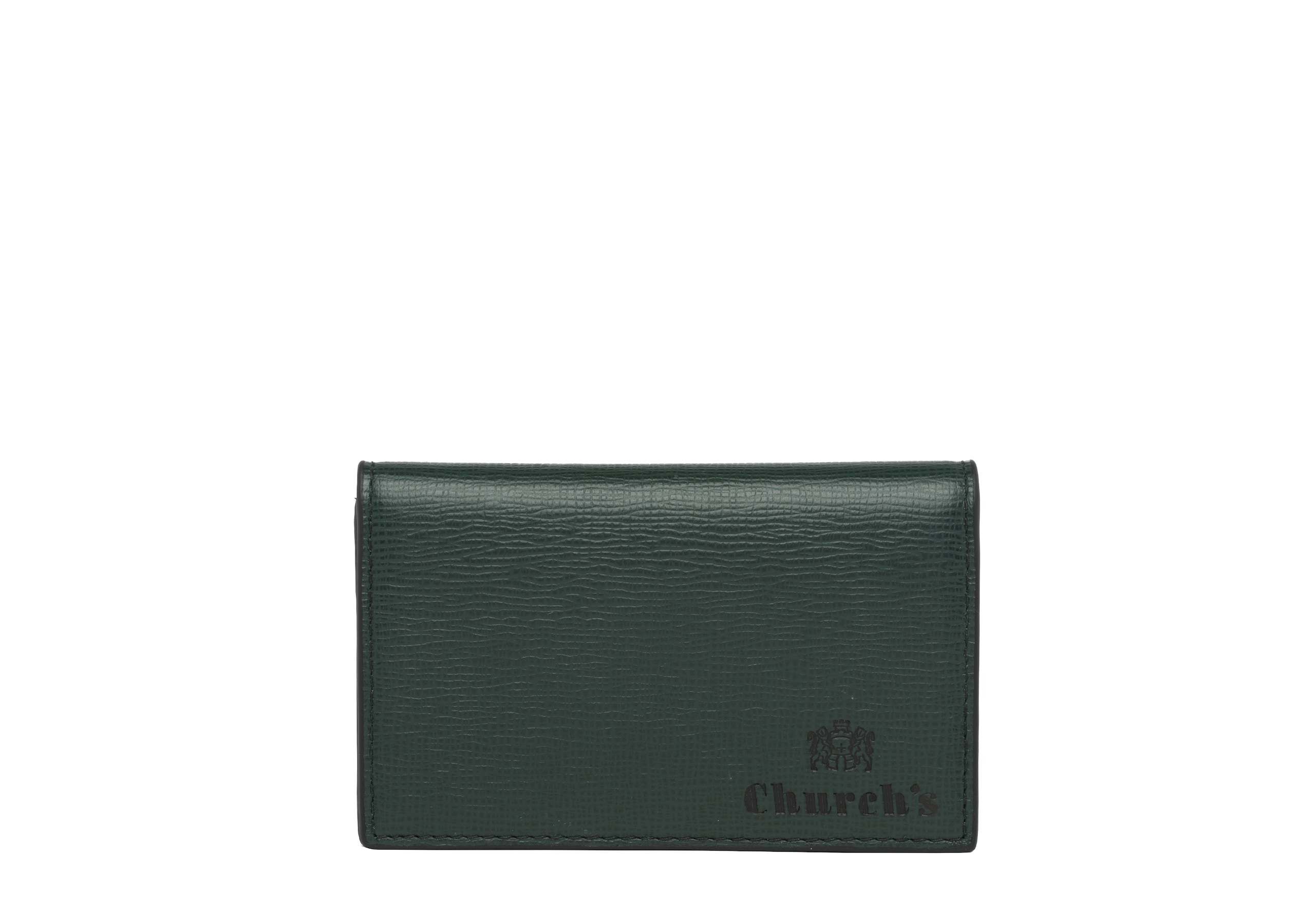 Card case Church's St James Leather Coin Holder Green