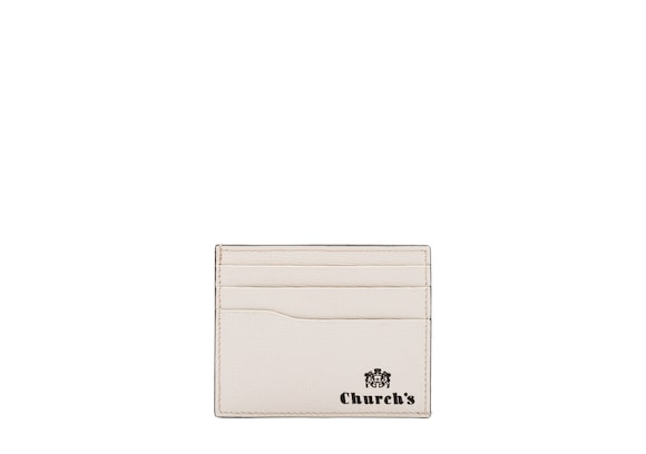 Church's Card holder St James Leather 6 Card Holder Chalk white