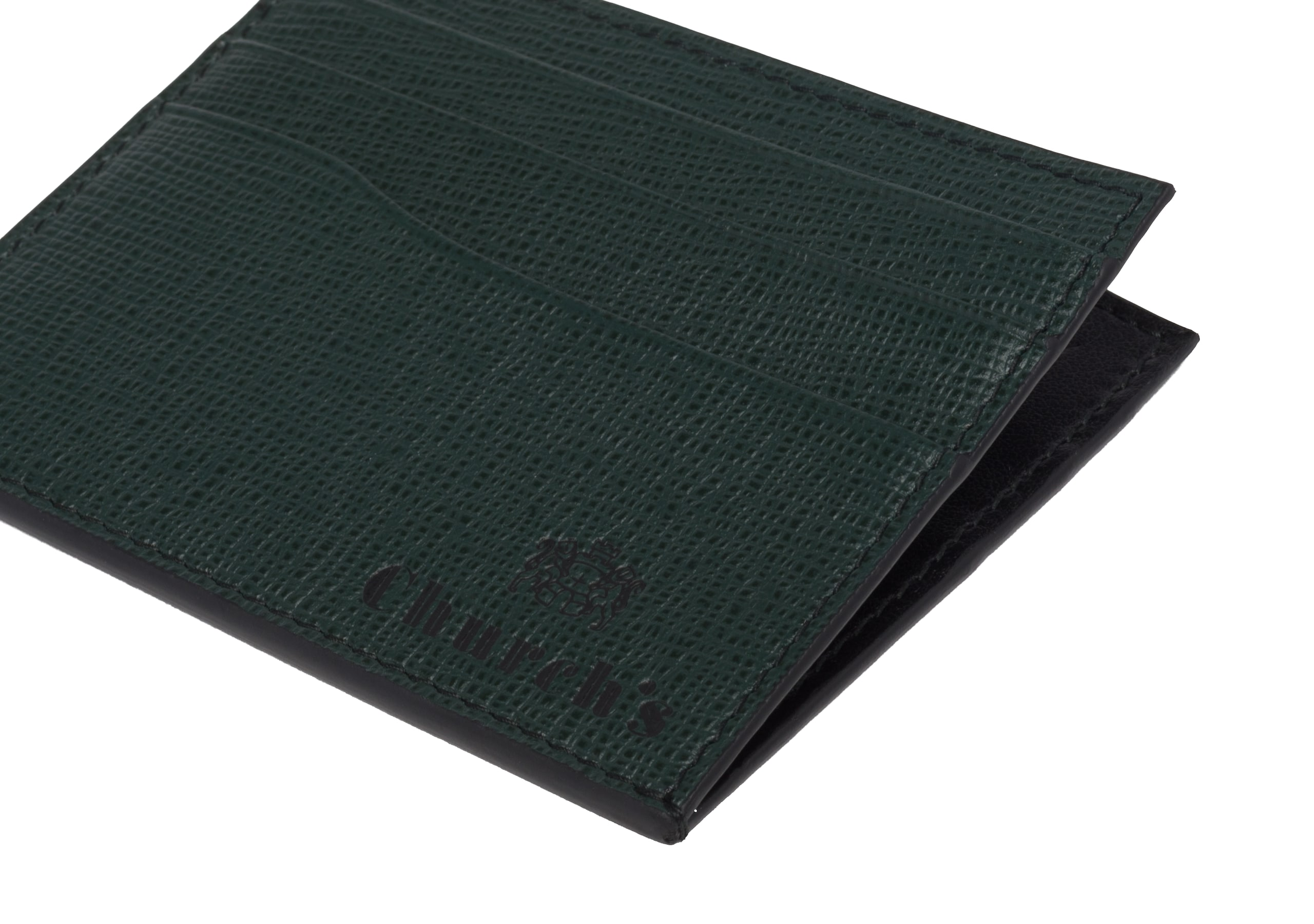 Card holder Church's St James Leather 6 Card Holder Green
