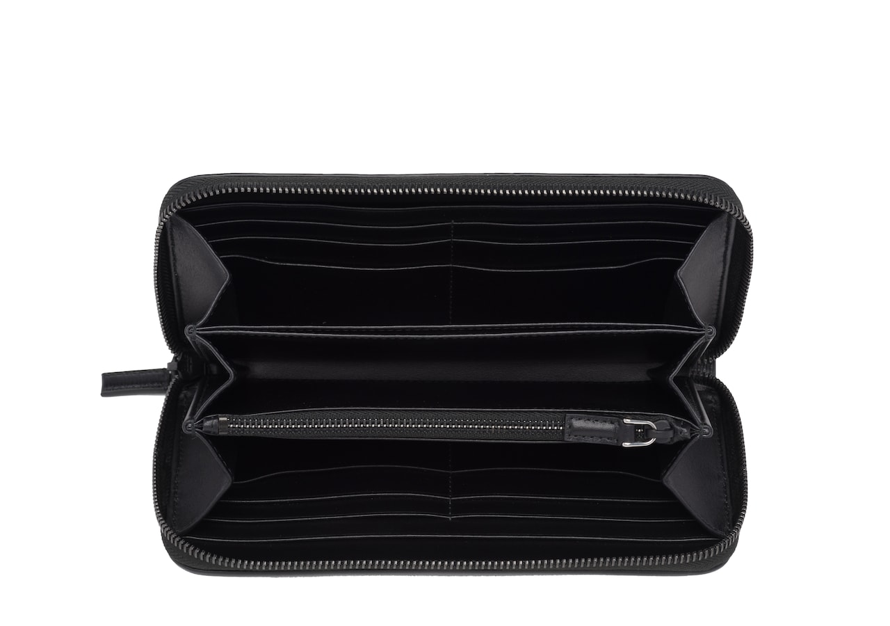 Continental wallet Church's St James Leather Continental Wallet Black
