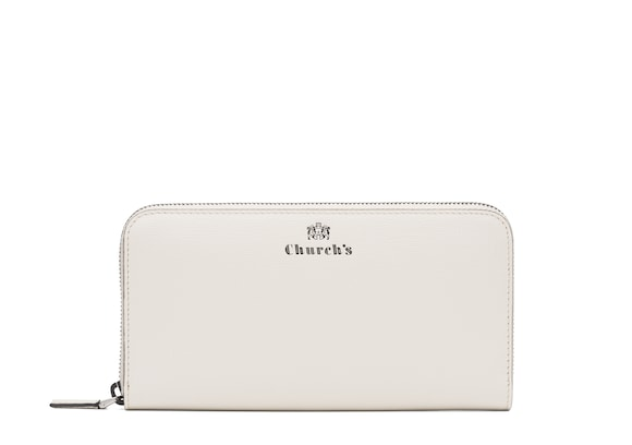 Church's true St James Leather Continental Wallet Chalk white