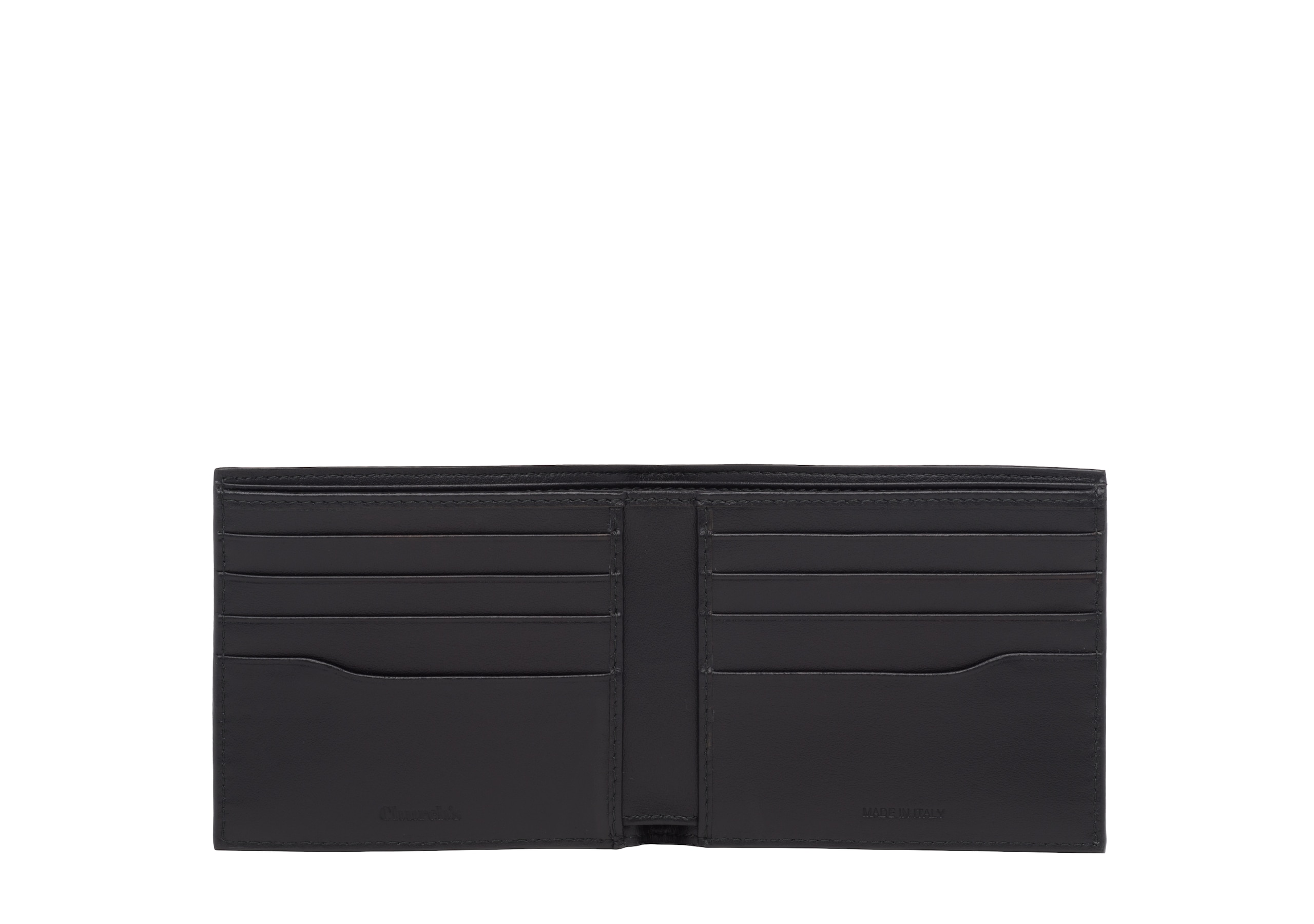 Billfold wallet Church's St James Leather 8 Card Wallet Black