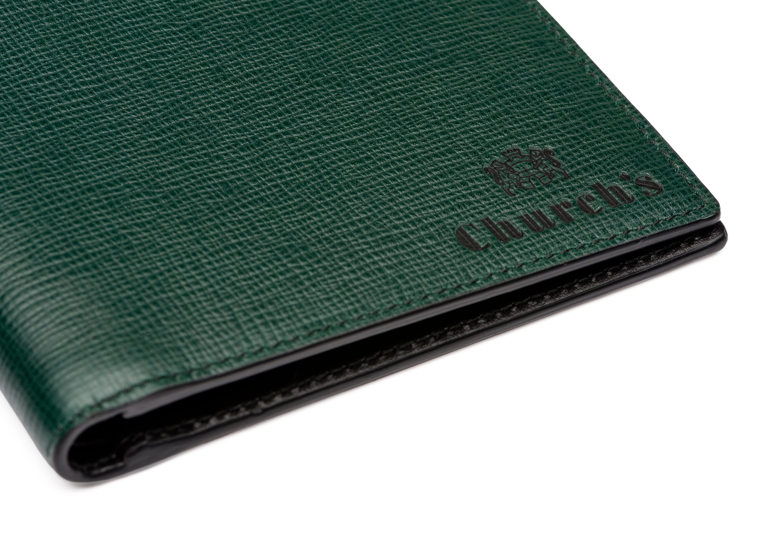 Billfold wallet Church's Portefeuille 8 cartes en cuir St. James Vert