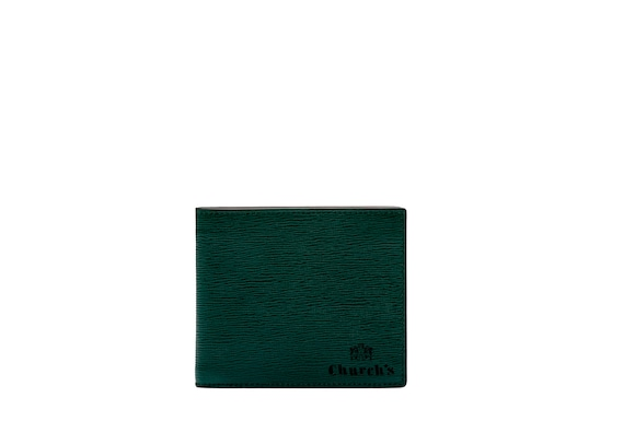 Church's true St James Leather 8 Card Wallet Emerald