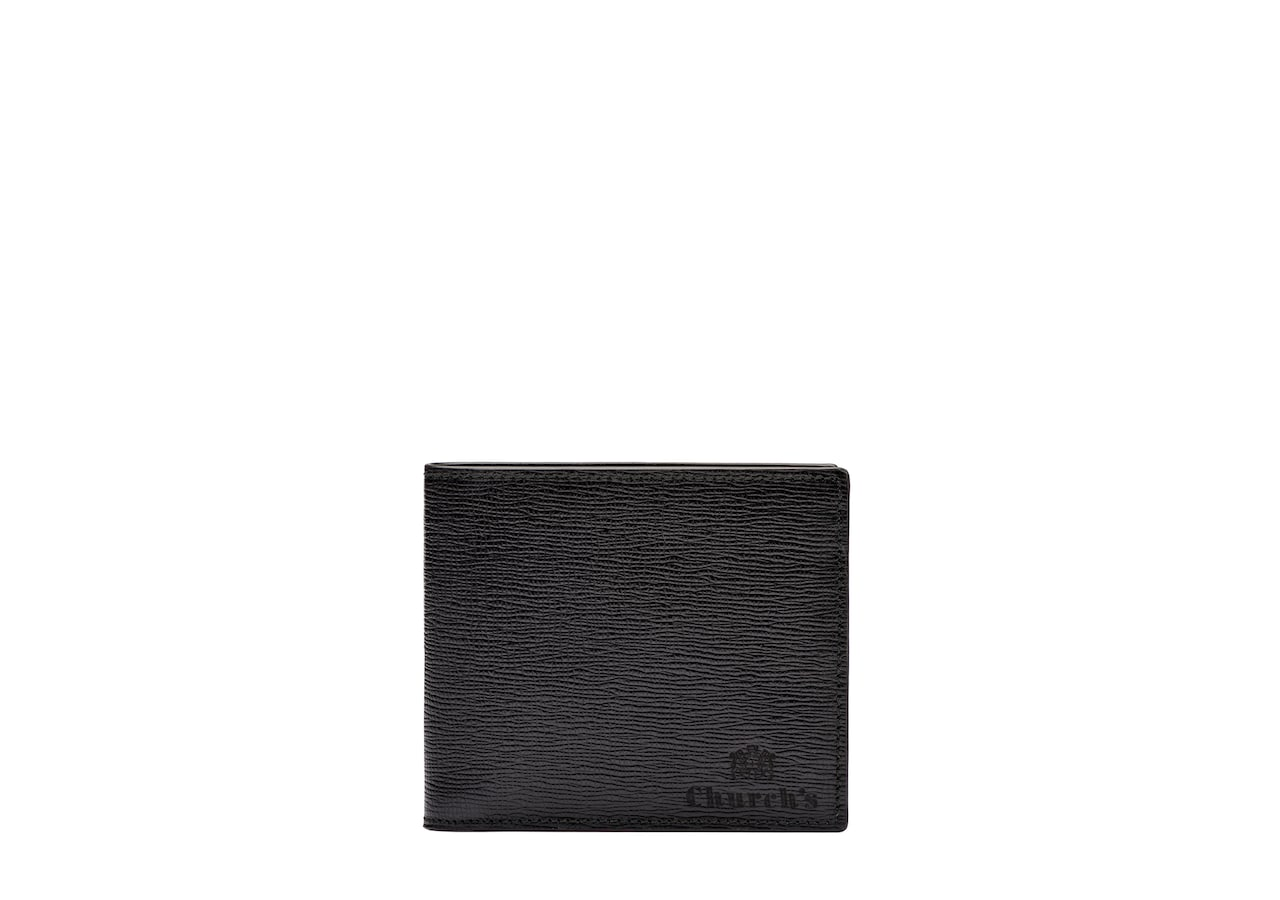 Billfold coin wallet Church's St James Leather 4 Card and Coin Wallet Black