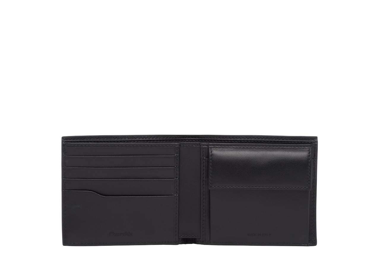 Billfold coin wallet Church's St James Leather 4 Card and Coin Wallet Neutral