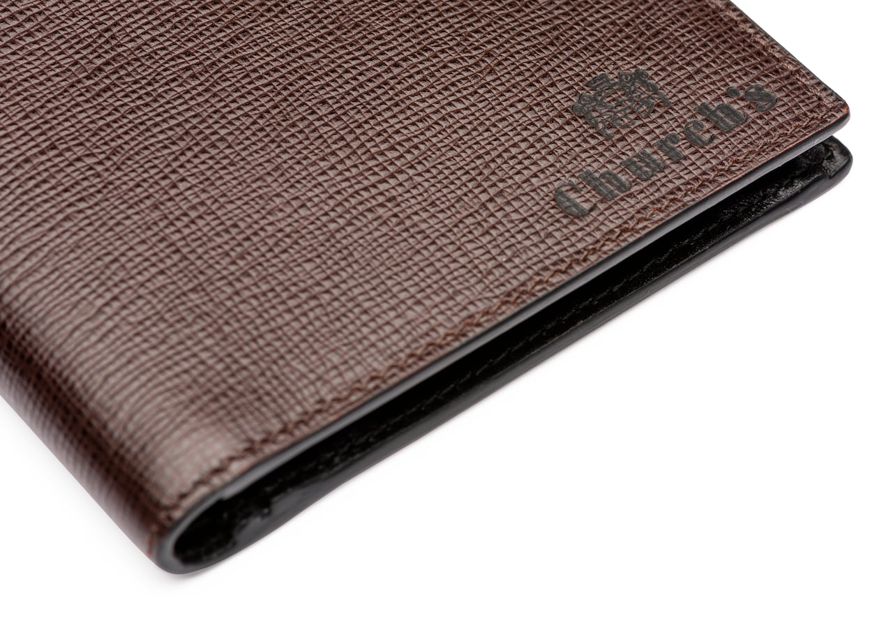 Billfold coin wallet Church's St James Leather 4 Card and Coin Wallet Brown