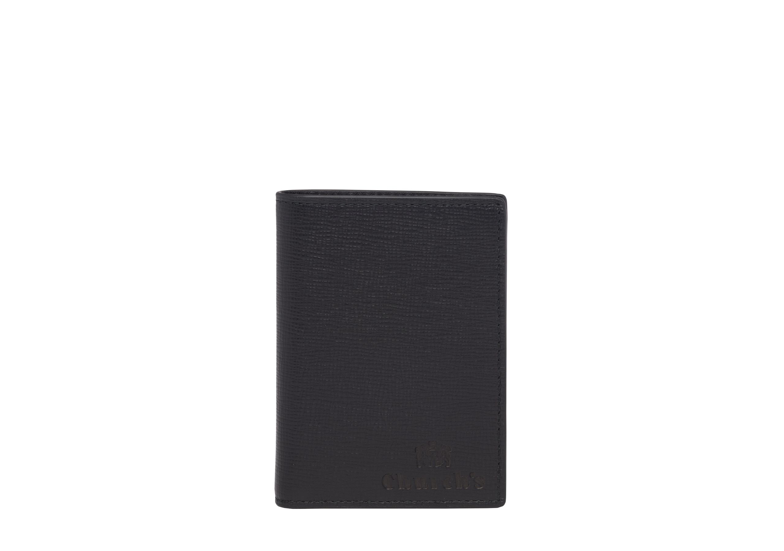 Folded cardholder   Church's St James Leather Card Holder Black