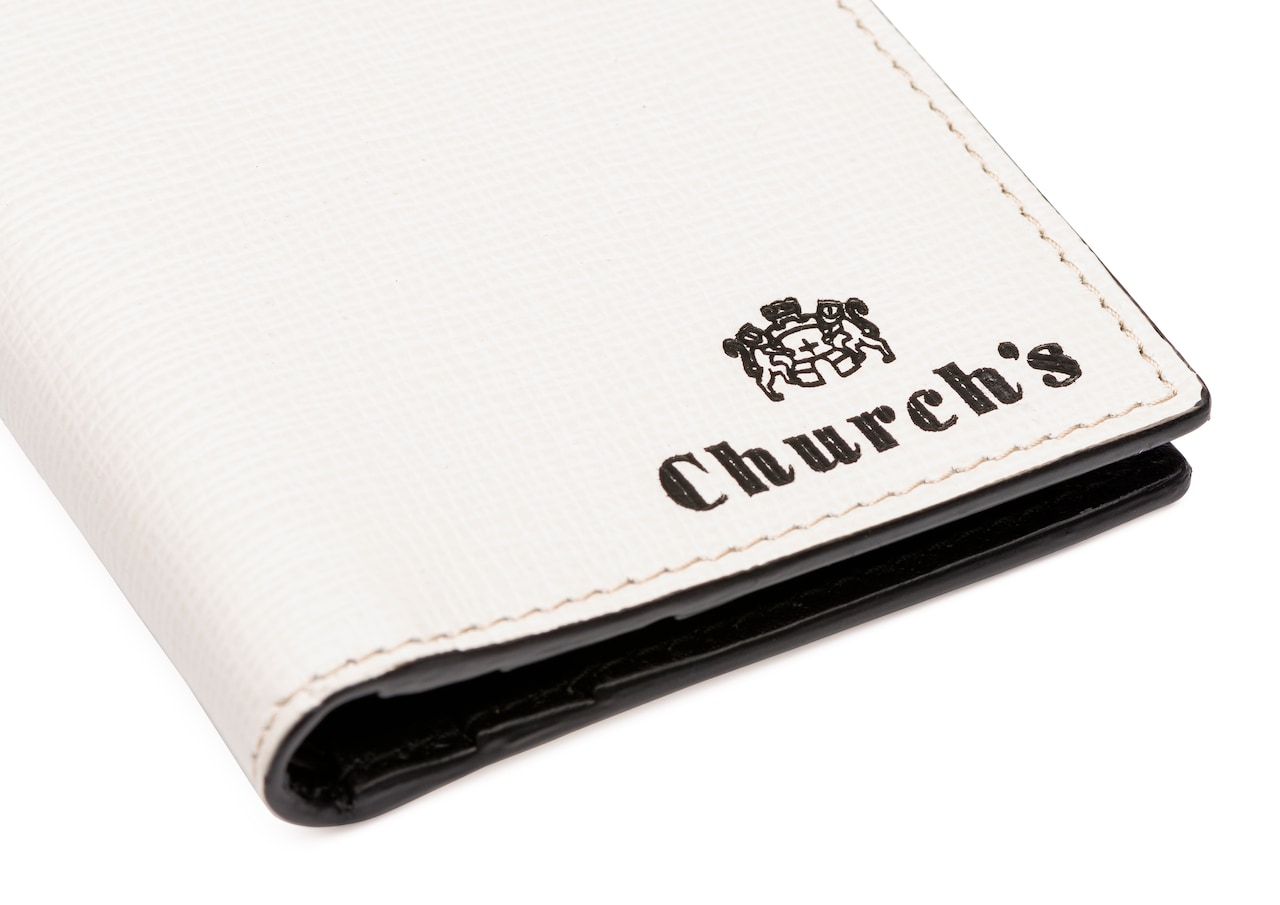 Folded cardholder   Church's St James Leather Card Holder Neutral