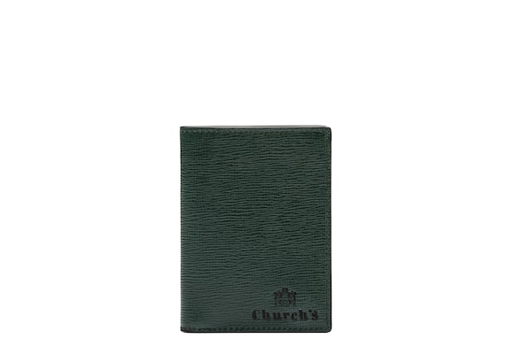 Church's true St James Leather Card Holder Emerald