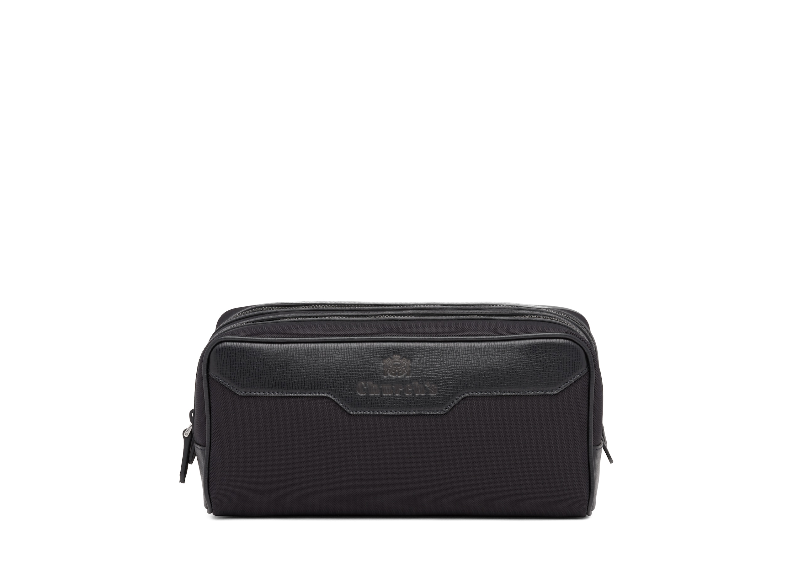 Somerset Church's St James Leather Tech Washbag Large Black