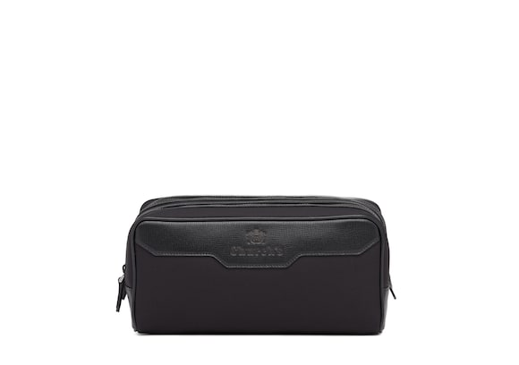 Church's Somerset St James Leather Tech Washbag Large Black