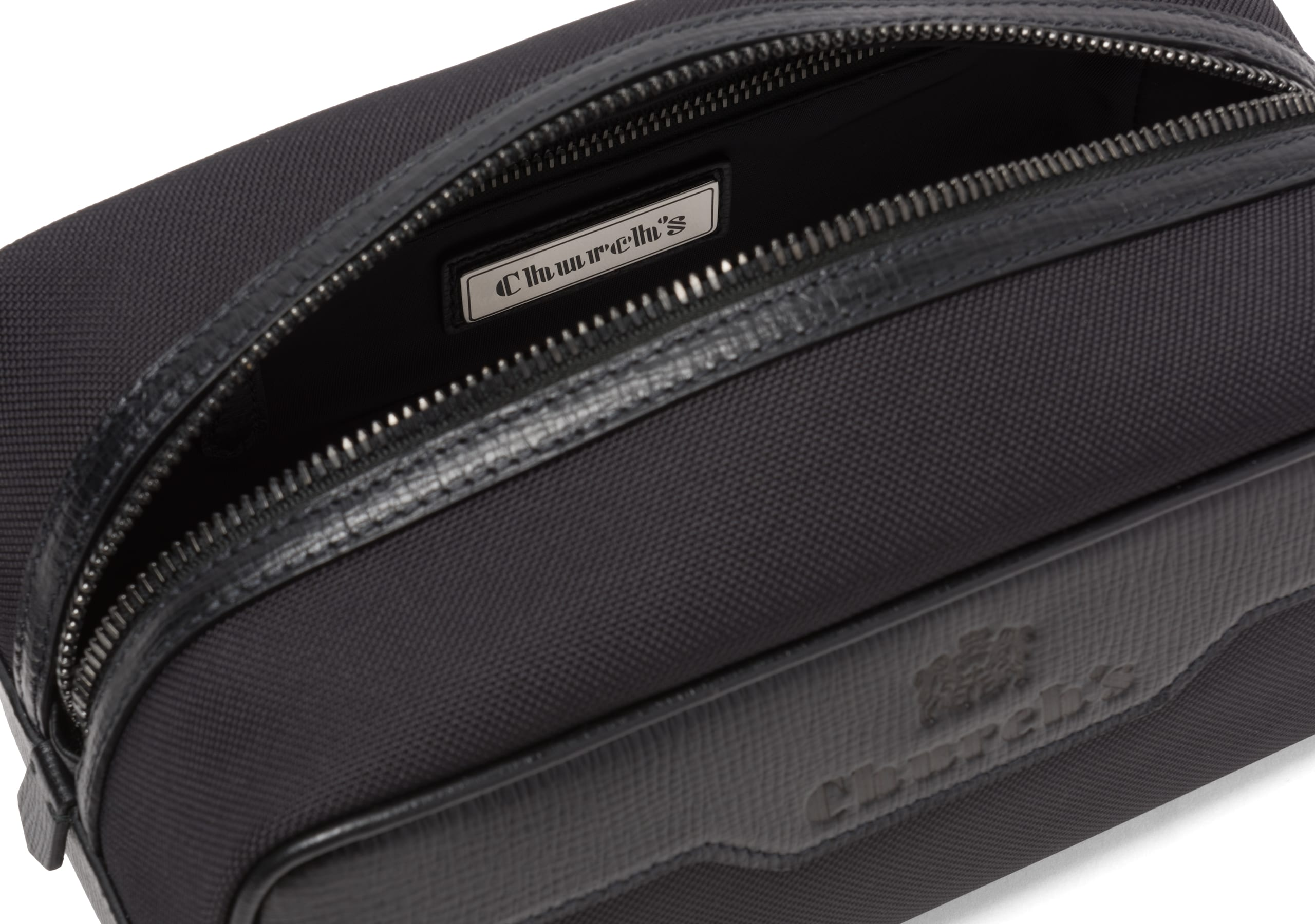 Devon Church's St James Leather Tech Washbag Small Black