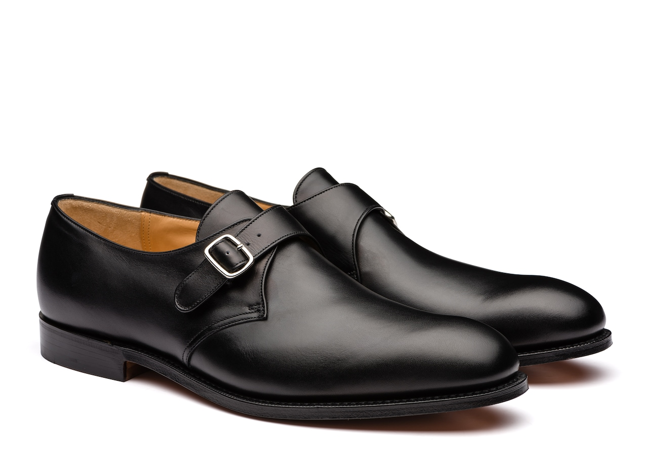 Becket Church's Calf Leather Monk Strap Black